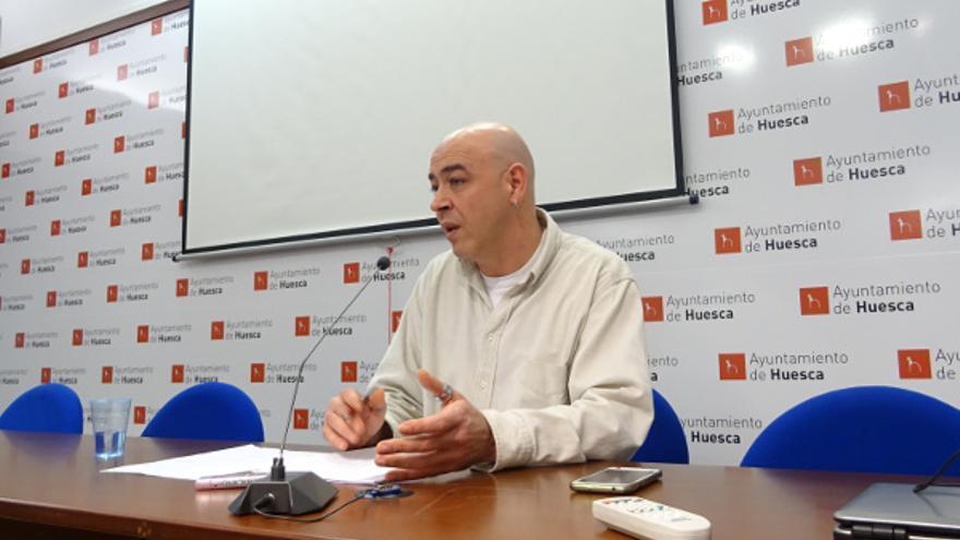 El concejal de Vivienda del Ayuntamiento de Huesca, Fernando Justes