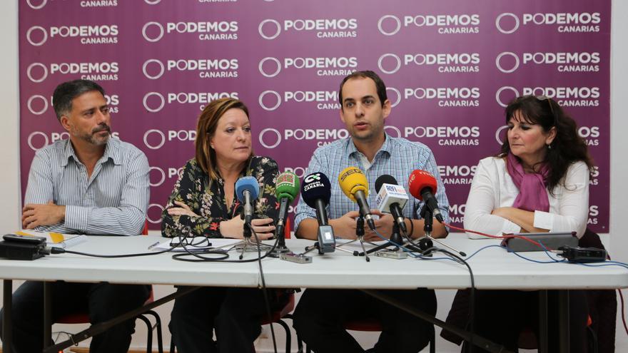 El consejero de Emergencias Miguel Ángel Rodríguez, la secretaria de Organización Conchi Moreno, el consejero de Educación Miguel Montero y la diputada Concepción Monzón.