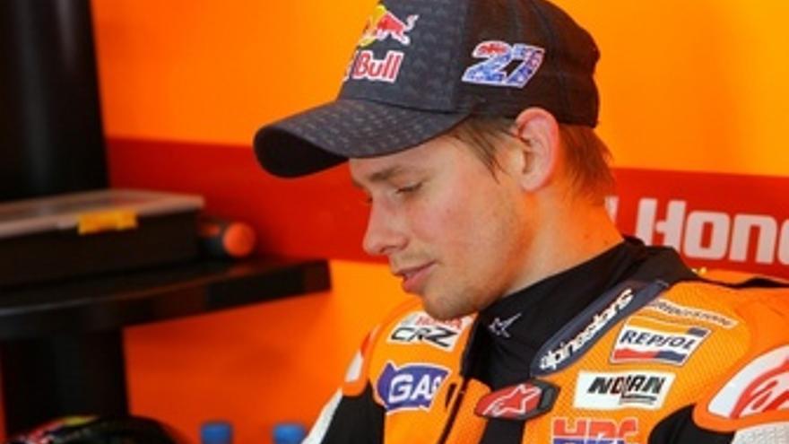 Casey Stoner, en el circuito de Le Mans. (Europa Press)