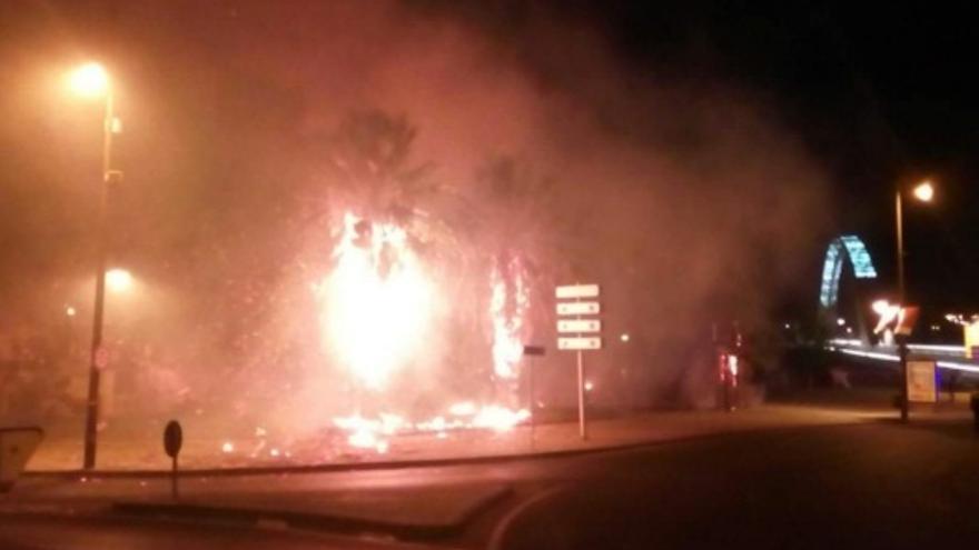 Uno de los fuegos registrados este finde semana en Mérida