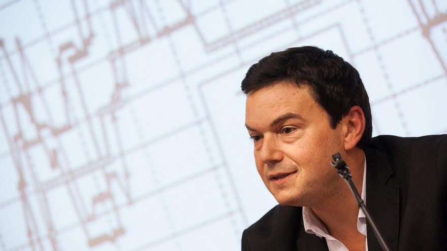 Thomas Piketty, en una conferencia en Barcelona el pasado 15 de octubre. Foto: cc Universidad Pompeu Fabra