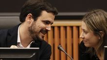 El coordinador federal de IU, Alberto Garzón, y la exportavoz en Bruselas, Marina Albiol,en una imagen de archivo.