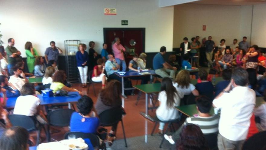 Asamblea de trabajadores de TVE, del 16 de septiembre de 2014.