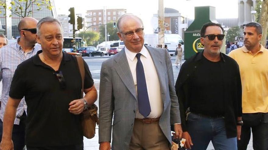 Rato llega a los juzgados para declarar sobre el origen de su fortuna