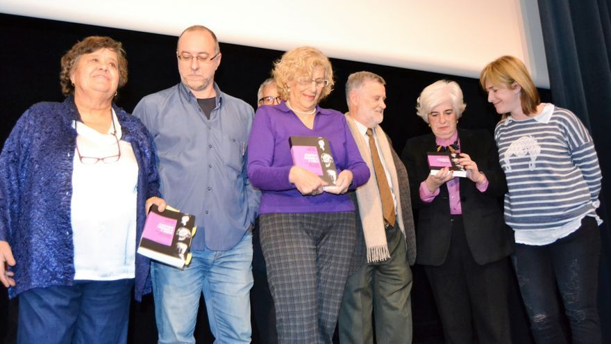 Cristina Almeida, Rubén Vega, Manuela Carmena, Ramón Perelló, Francisca Sauquillo y Sonia Gumpert