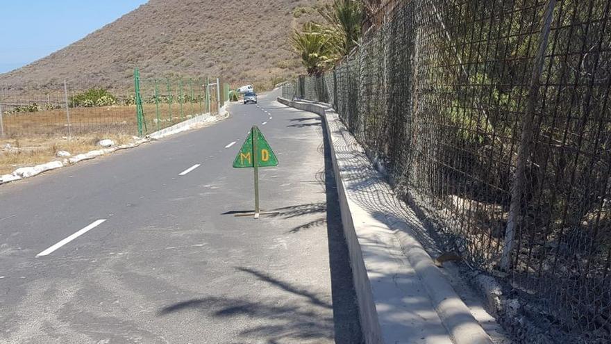 Imagen con parte de la zona en la que actuó el Ayuntamiento de Güímar, en el Camino del Socorro