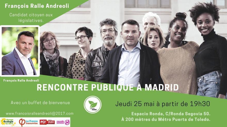 François Ralle, candidato de Reseau Ensemble, para las legislativas francesas de 2017.