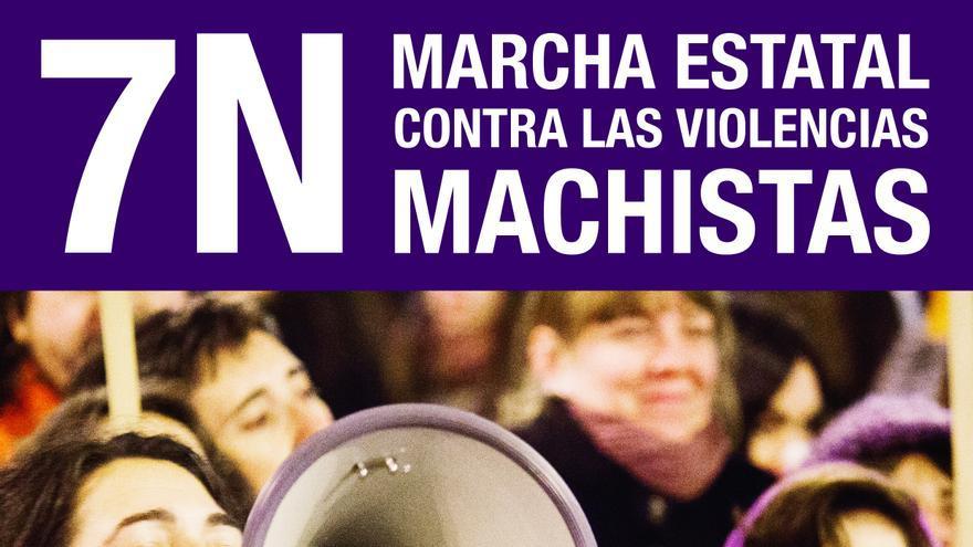 Fotografía perteneciente al cartel anunciante de la Marcha estatal contra las violencias machistas del 7N