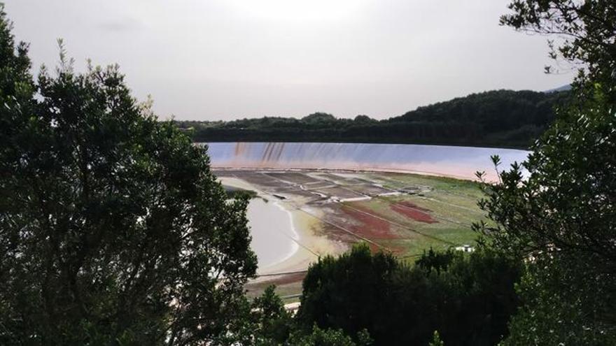 Imagen de La Laguna de Barlovento que, al 31 de enero, se encontraba solo al 5% de su capacidad. DAVID ROCHA