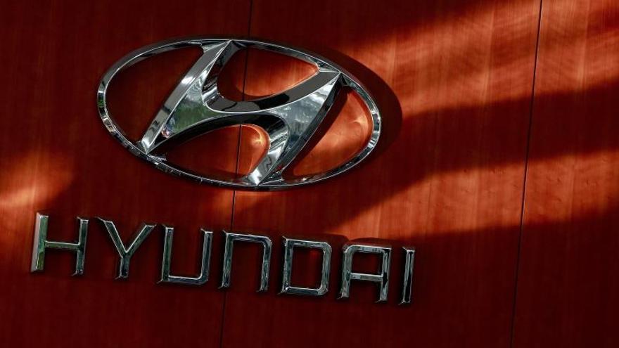 En la imagen, logo de la compañía surcoreana Hyundai Motors.