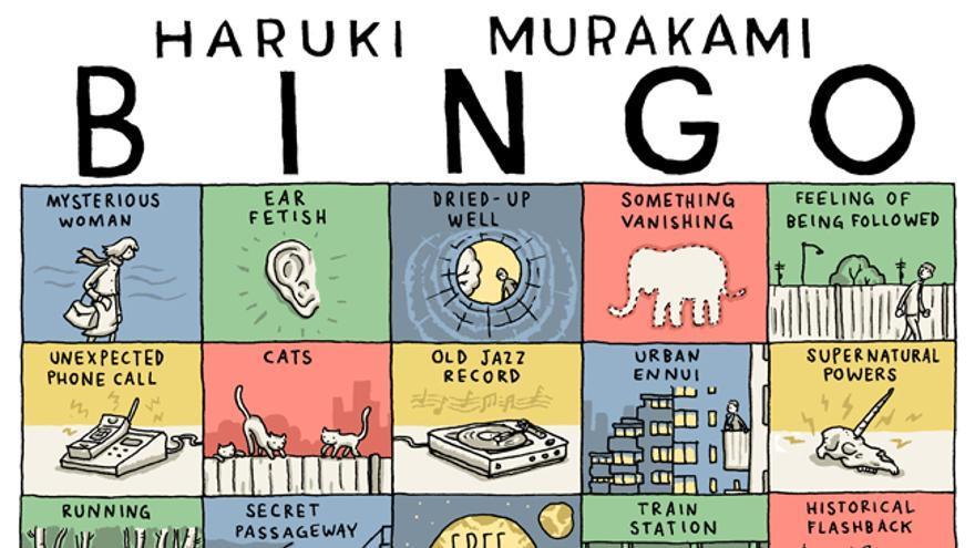 El bingo de Murakami. Ilustración de Grant Snider. © Incidental Comics 2019.