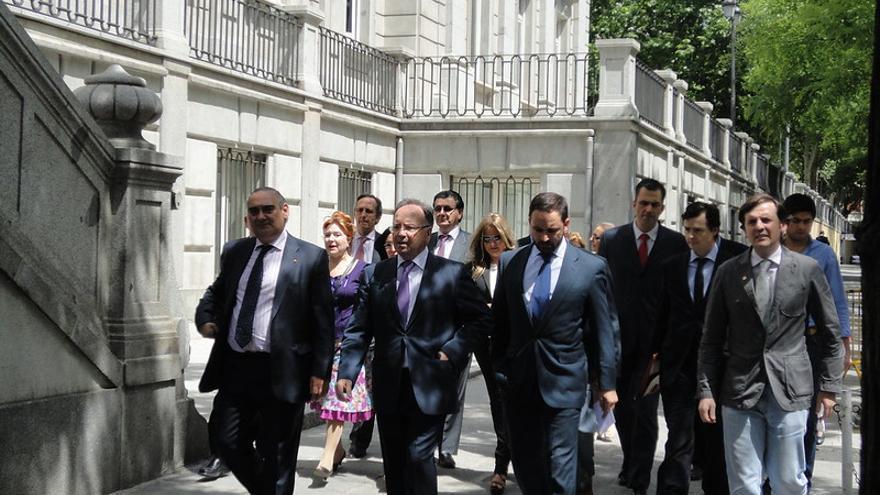 Representantes de Denaes, Manos Limpias, HO y Voces contra el Terrorismo presentaron una querella conjunta en 2011