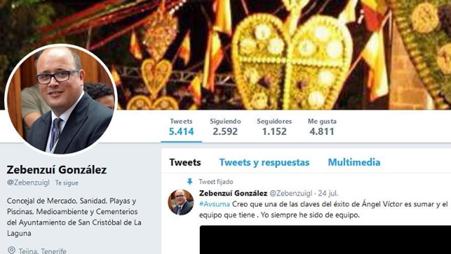 Perfil de Twitter de Zebenzuí González