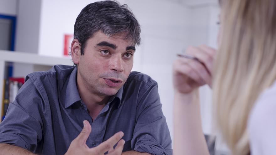 Jorge García Castaño durante la entrevista.