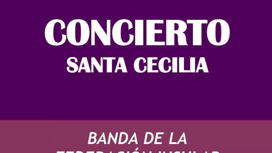 Cartel del concierto Santa Cecilia Banda de la federación insular de La Gomera