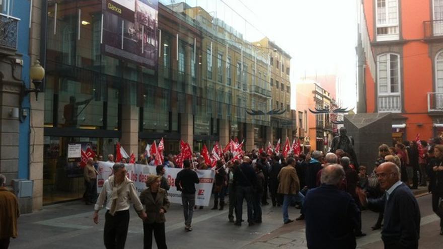 Protesta de empleados de Bankia en LPGC #10