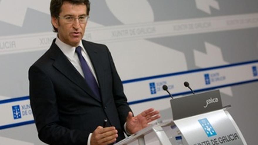 El Presidente De La Xunta, Alberto Núñez Feijóo, Tras El Consello