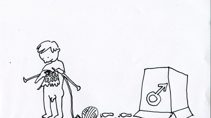 Ilustración hecha por Isa Vázquez, que aparece en el libro Trans*exualidades de Lucas Platero.