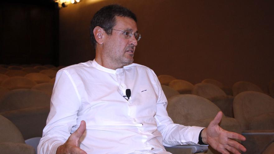 Ginés Garrido durante la entrevista concedida antes de su conferencia en el Coactfe.