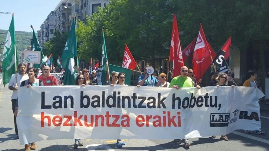 Un momento de las manifestaciones protagonizadas por profesores.