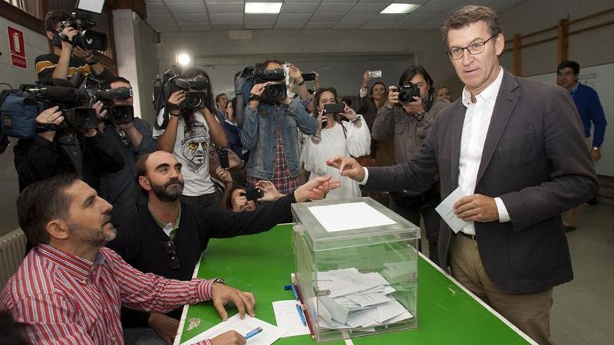 """Feijóo espera que las urnas den un """"mensaje de futuro y prosperidad"""" a Galicia"""