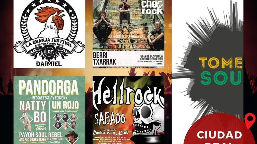Cartel festivales 2019 Ciudad Real