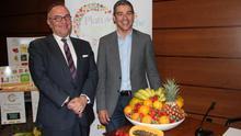 Los consejeros canarios José Manuel Baltar y Narvay Quintero, en la presentación del plan para este curso