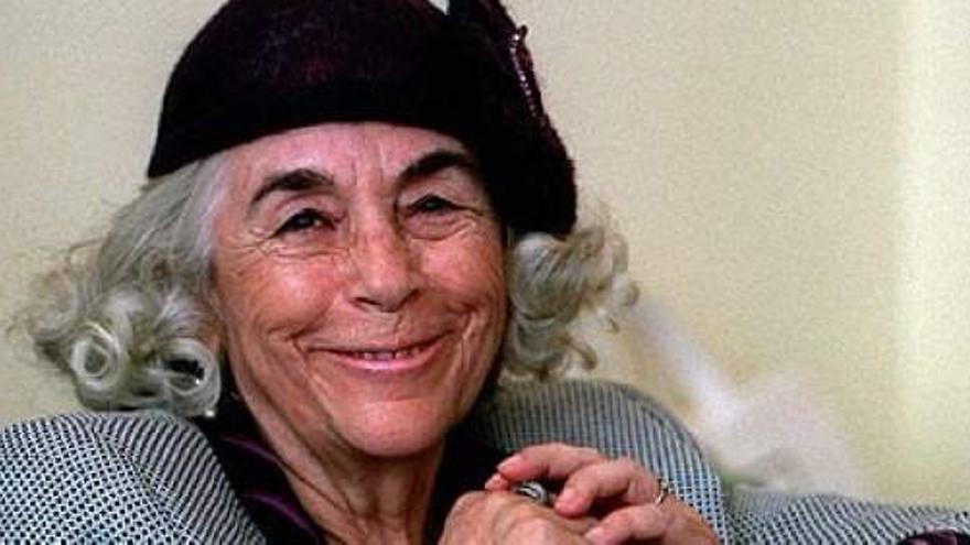 La escritora salmantina Carmen Gaite