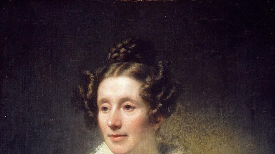 Mary Somerville retratada por Thomas Phillips