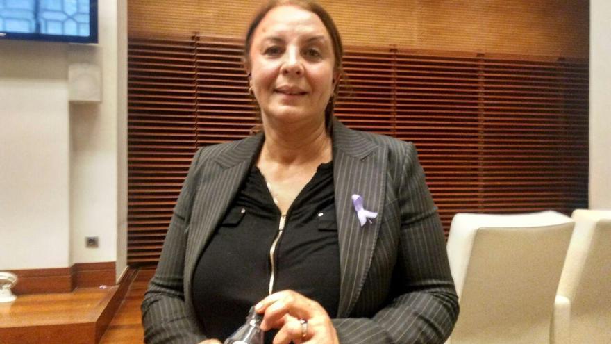 Nadia Otmani, presidenta de la asociación de mujeres Al Amal.