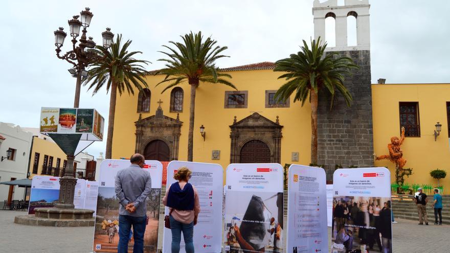 Foto de la muestra itinerante, en su paso por el pueblo de Garachico