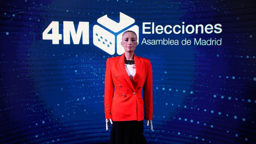 La Comunidad de Madrid aplica la inteligencia artificial por primera vez en un proceso electoral a través del robot Sophia