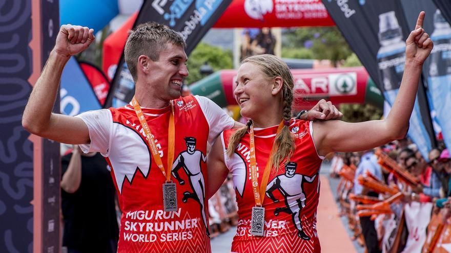 Tim Freriks e Ida Nilsson, ganadores de la Transvulcania 2017.
