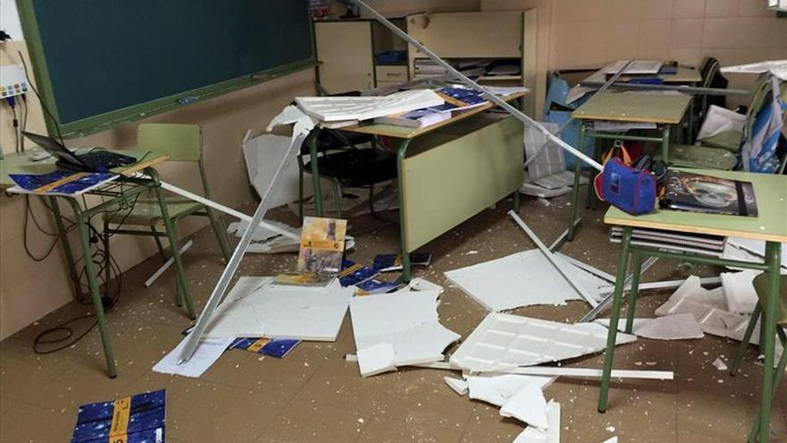 Una bolsa de aire provoca el derrumbe del techo del colegio de Casar (Toledo)