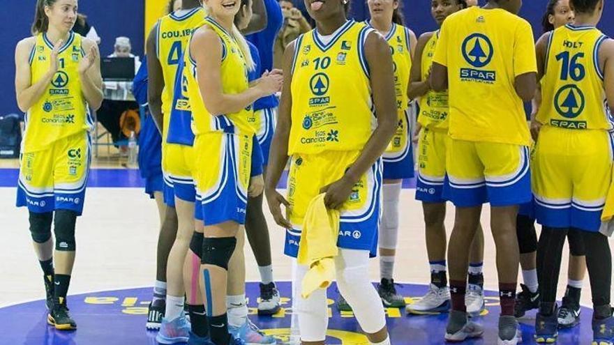 Jugadoras del SPAR Gran Canaria durante un partido de la temporada pasada