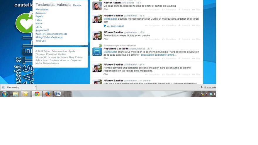 Tuits de Alfonso Bataller contra Gulbis