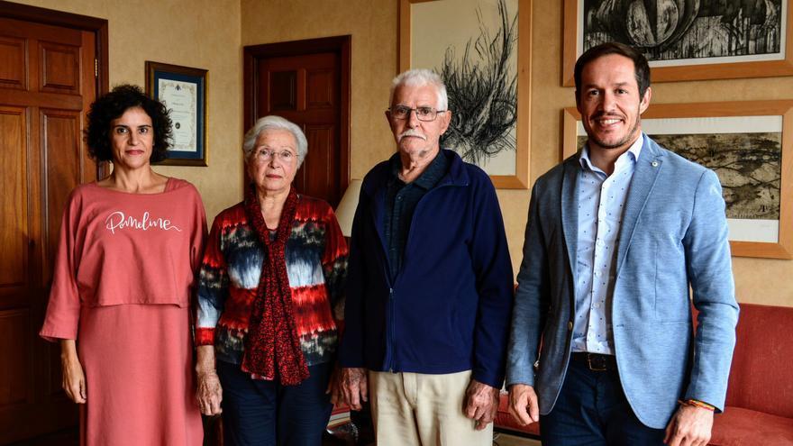 Aralda Rodríguez ha sido recibida este miércoles en el Cabildo.