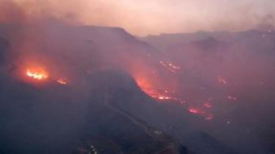 EFE/Sergio Pérez- vista del incendio del año 2007 en las cercanías de la localidad de Ayagaures, Gran Canaria.