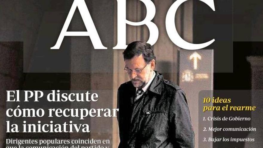 El ABC, alarmado ante la reacción del PP a las elecciones europeas.