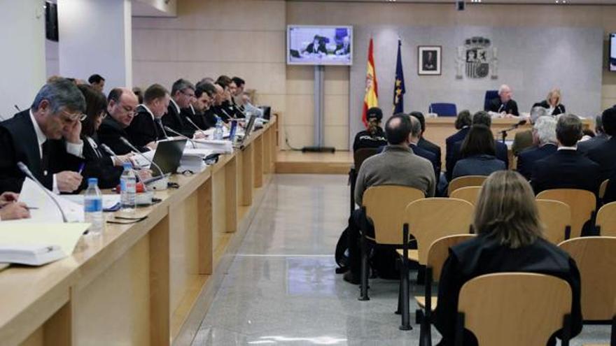 Vista de la sala de la Audiencia Nacional donde se juzga la pieza de Gürtel sobre la financiación ilegal del PP valenciano