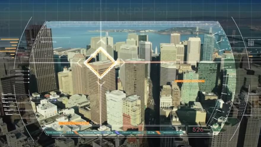 Campo de visión de un dron
