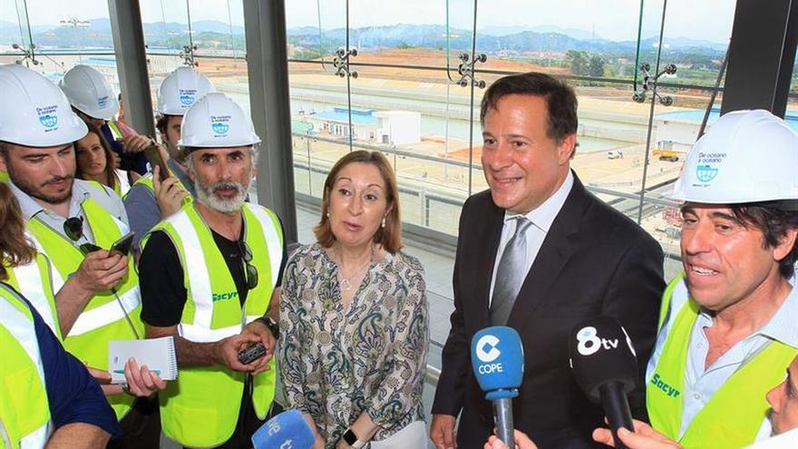 """Varela agradece """"respaldo"""" de Rajoy durante las obras del Canal de Panamá"""