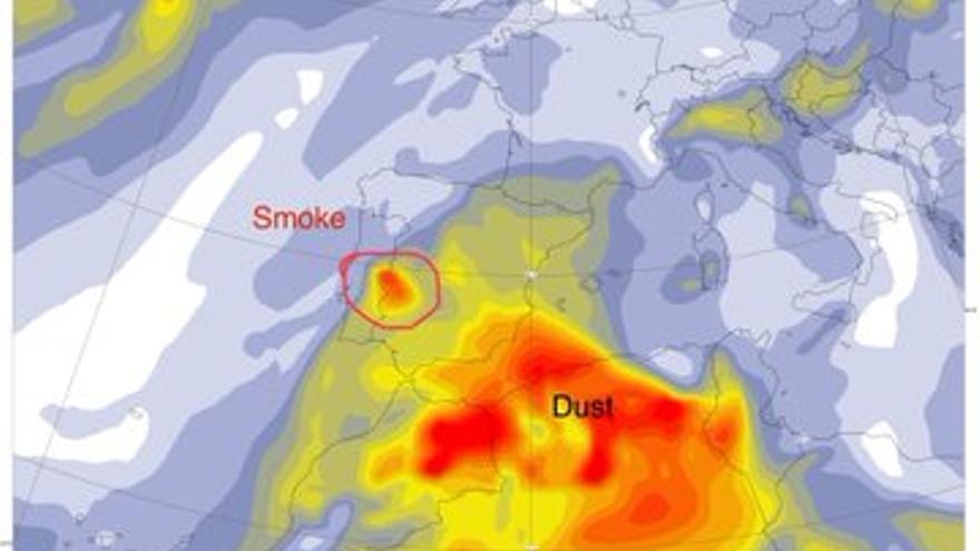 Incendio Portugal humo