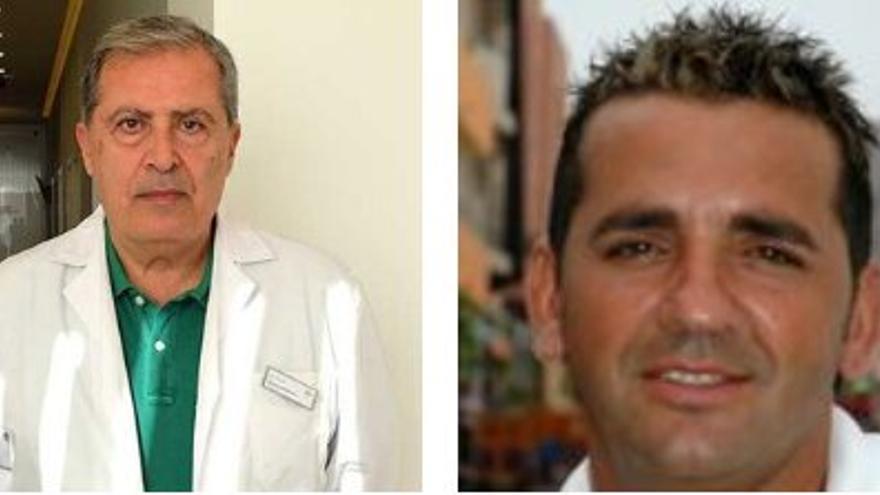 El doctor Hanna Souweileh Rihan y Guillermo Concepción, dos de los candidatos de Vox en Fuerteventura.