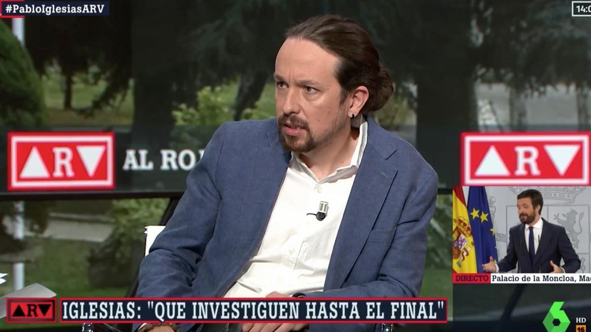 El vicepresidente segundo del Gobierno, Pablo Iglesias, durante la entrevista en Al Rojo Vivo.