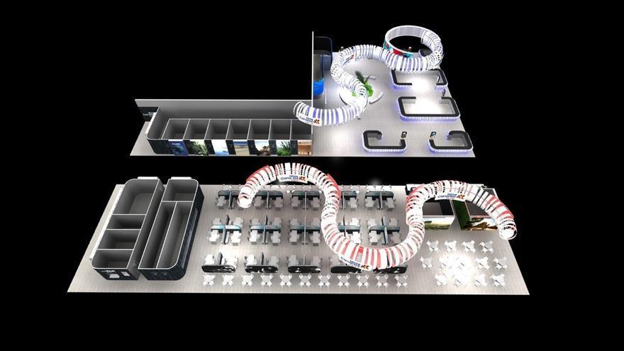 Diseño del pabellón canario en Fitur de 2018