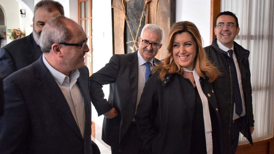 Susana Díaz con Juan Cornejo.