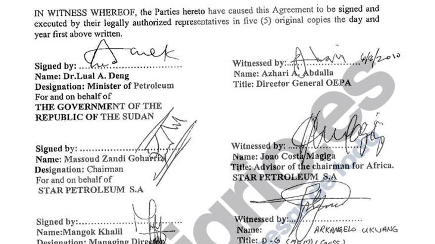 Firmas Star Petroleum Sudán