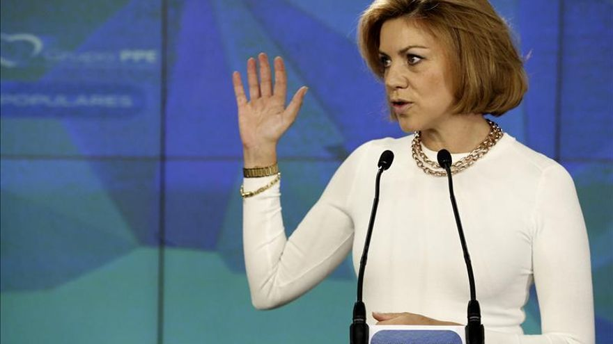 """Cospedal llama a la unidad de España y de Europa para ser """"más fuertes"""""""