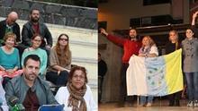 Presentación de la candidatura IU-Unidad Popular por Las Palmas, en diciembre, y mitin de Podemos en la capital grancanaria ese mismo mes.